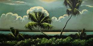 JAMES GIBSON NIGHT RIVER PALMS HIGHWAYMEN PAINTING