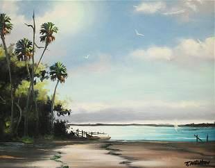 TRACY NEWTON FLORIDA BEACH PAINTING