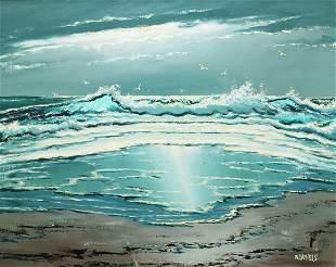WILLIE DANIELS OCEAN BEACH HIGHWAYMEN PAINTING
