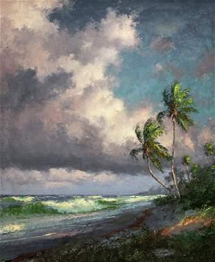 A.E. BACKUS FLORIDA BEACH PAINTING