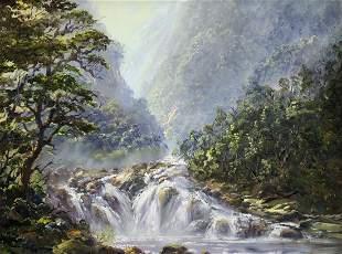 IVAN CLARKE MOUNTAIN STREAM LANDSCAPE
