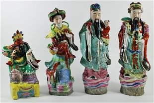(4) CHINESE FIGURINES