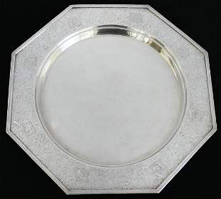 BARBOUR STERLING SILVER ROUND TRAY
