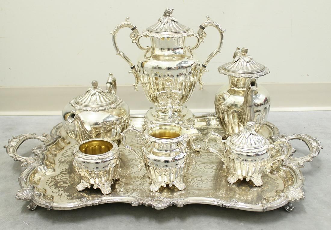 GOLDFEDER SILVERPLATE TEA SET