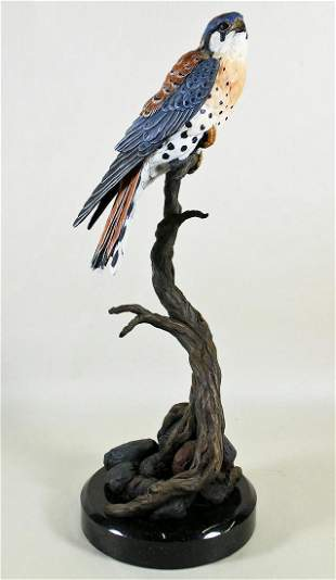 EUGENE MORELLI BRONZE BIRD SCULPTURE