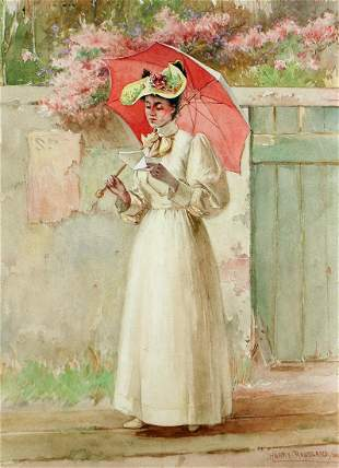 HARRY ROSELAND WATERCOLOR - 1884