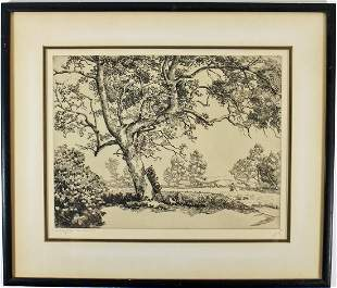 WALTER LOCKE A DAY TO BE REMEMBERED ETCHING