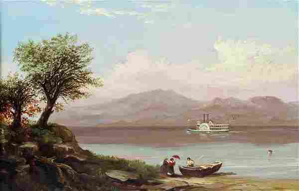 19TH CENTURY BLACK MOUNTAIN LAKE GEORGE PAINTING