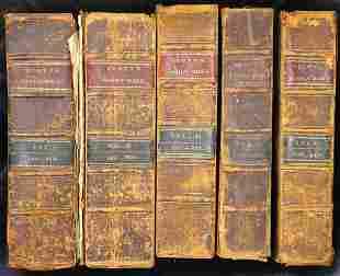 VOL 1-5 THE HOLY BIBLE BY THOMAS SCOTT 1816