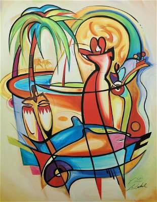 ALFRED GOCKEL CARIBBEAN DREAM PRINT ON CANVAS