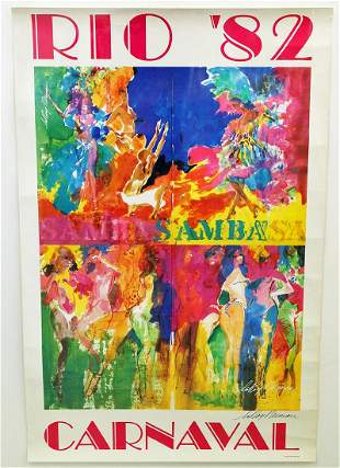 LEROY NEIMAN SIGNED RIO CARNAVAL POSTER
