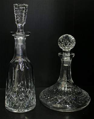 (2) WATERFORD CRYSTAL DECANTERS