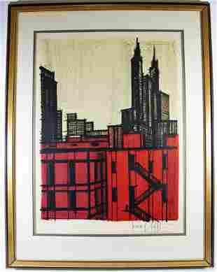 BERNARD BUFFET NEW YORK E.A. LITHOGRAPH