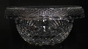 WATERFORD CRYSTAL ROLLED EDGE BOWL