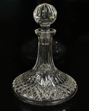WATERFORD CRYSTAL LISMORE SHIP'S DECANTER