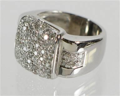 14K WHITE GOLD 1.50 TCW DIAMOND RING