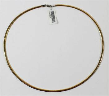 10K WHITE / YELLOW GOLD OMEGA NECKLACE