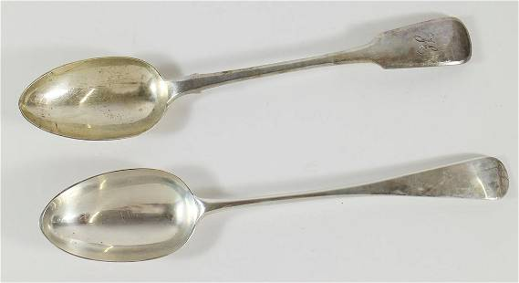 (2) ENGLISH STERLING SILVER STUFFING SPOONS
