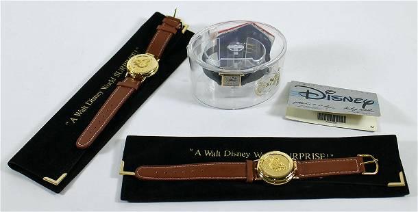 (3) VINTAGE WALT DISNEY WATCHES - VIP LARRY KING