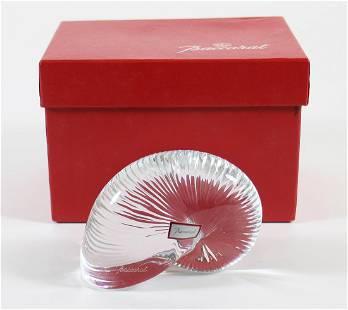 BACCARAT NAUTILUS SHELL PAPERWEIGHT W/ BOX