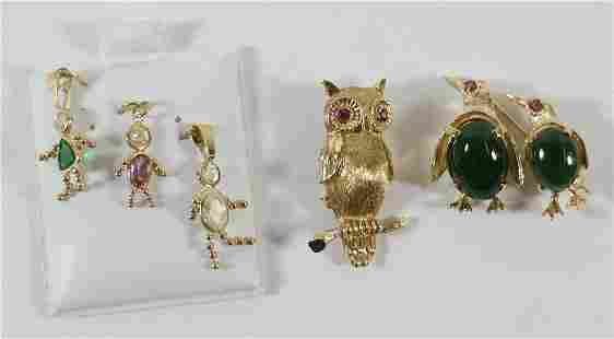 14KT GOLD BROOCHES & PENDANTS