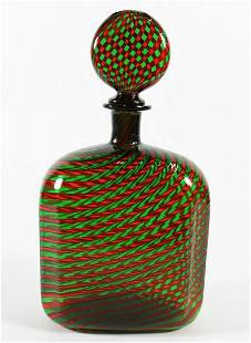 VENINI CANE GLASS DECANTER