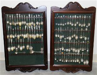 STERLING & SILVERPLATE SOUVENIR SPOONS & MORE