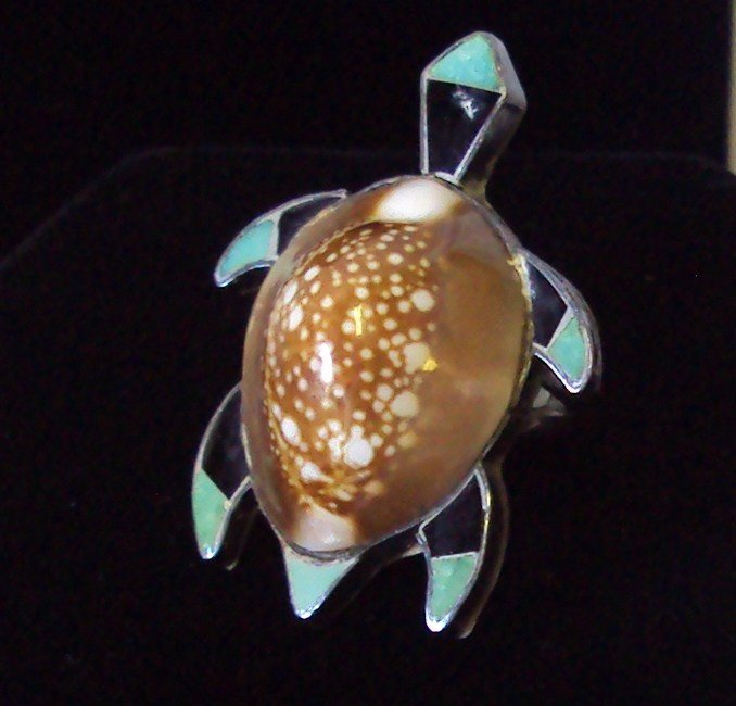 1: Sterling Hawaiian Turtle Ring