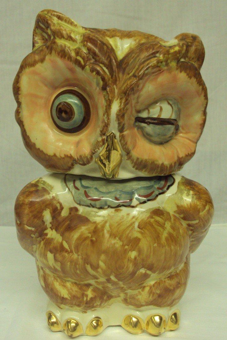 13: Shawnee Blinking Eye Owl Cookie Jar