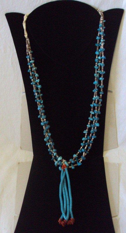 16: Vintage Navajo Heishi Turquoise Jacla Necklace