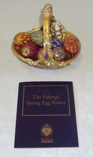 105: (2) Faberge Egg Baskets - Spring & Winter - 2