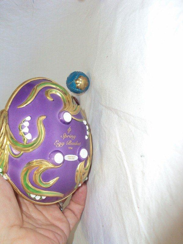 105: (2) Faberge Egg Baskets - Spring & Winter - 5