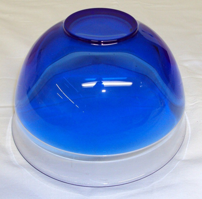 164: Orrefors Blue Art Glass Bowl - 3