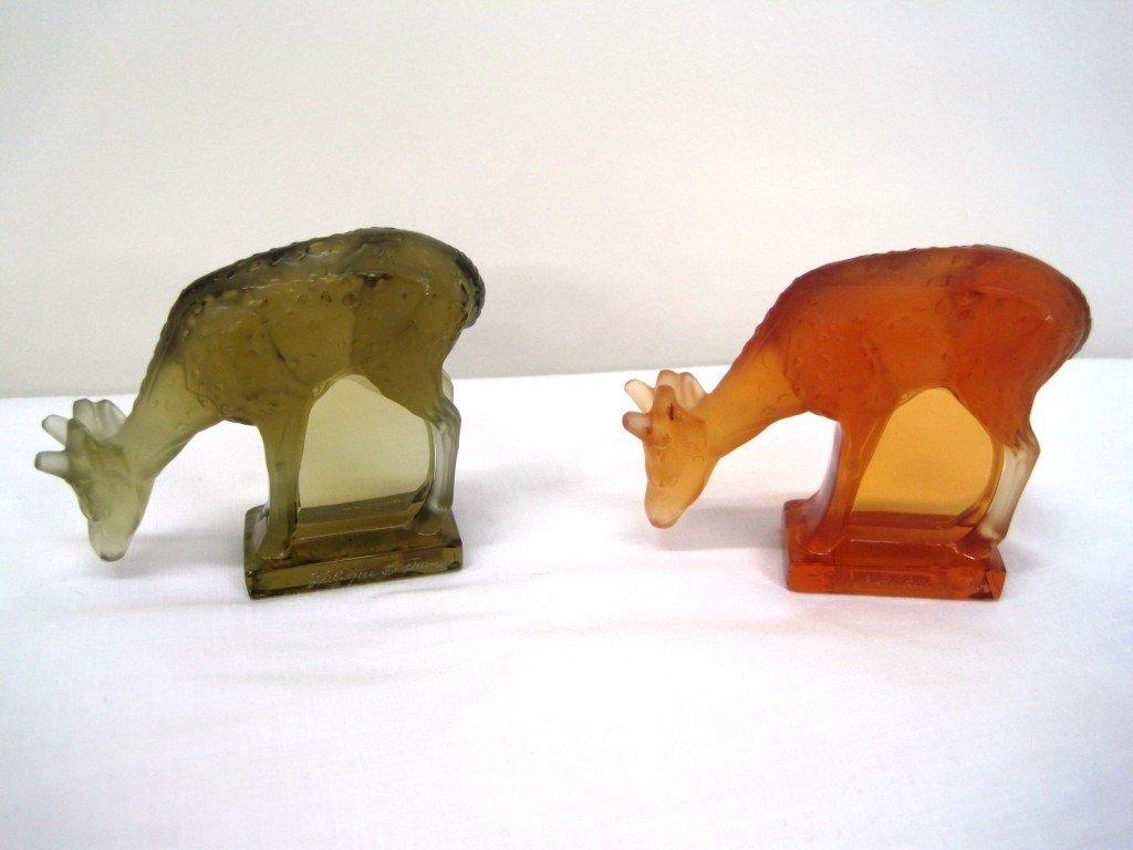 8: Pair of Lalique Deer