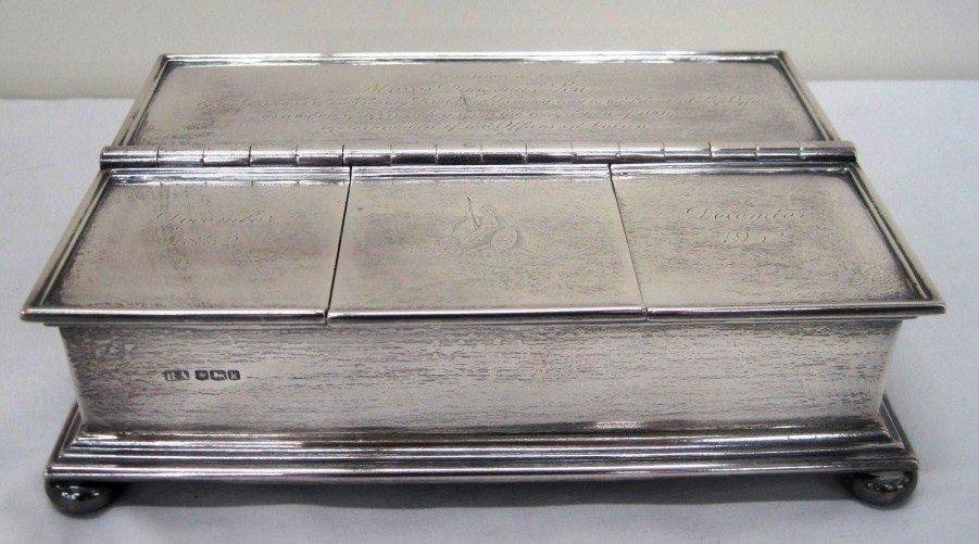 128: Sterling Silver Inkwell 1932 Dublin