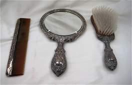 293 Gorham Sterling Silver Vanity Set
