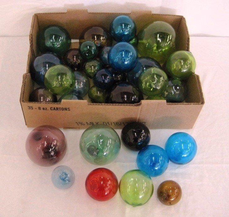 10: Blenko Hand Blown Glass Balls