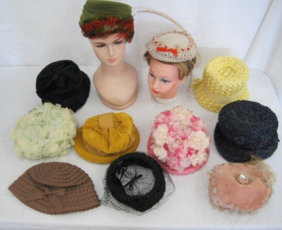 12: Ladies Vintage Hat Collection w/ boxes