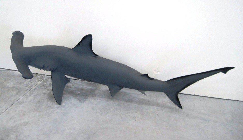 16: 7 FT Fiberglass Hammerhead Shark