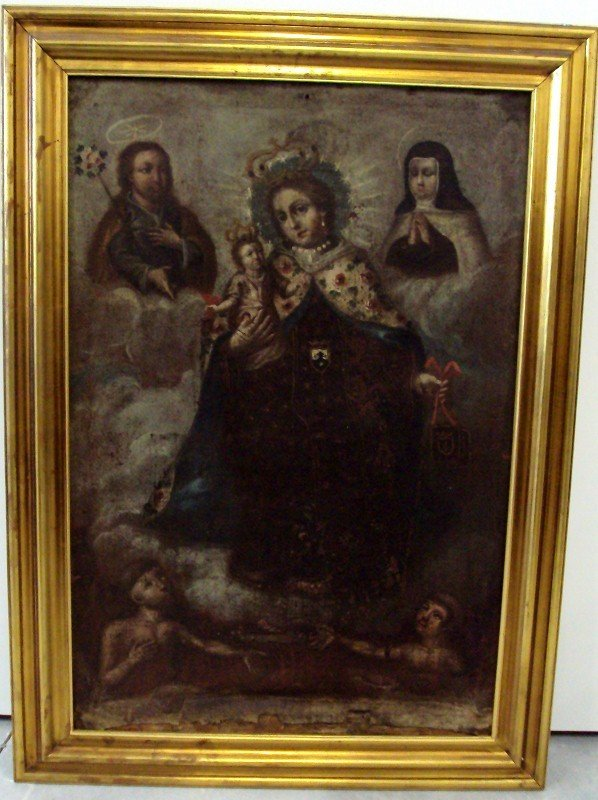 155: 18th/19th Century Religious Oil Painting