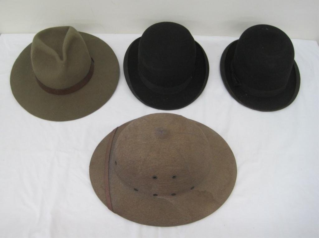 102: HAT COLLECTION - POSTAL, STETSON, FEDORAS
