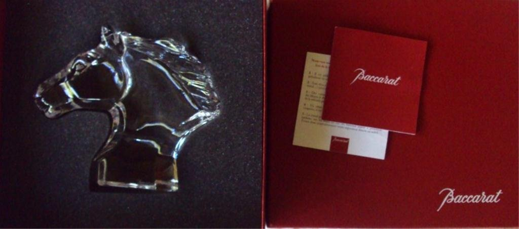 116: BACCARAT CRYSTAL HORSE WITH BOX