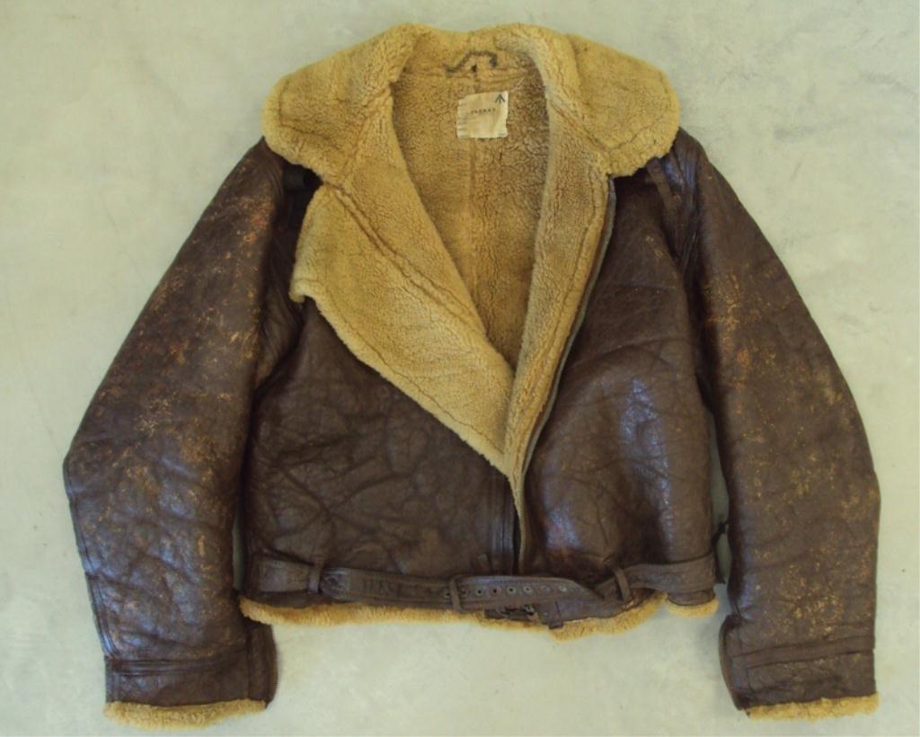 195A: WWII IRVIN SHEEPSKIN BOMBER JACKET