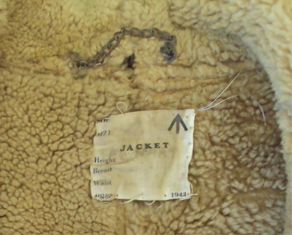 195A: WWII IRVIN SHEEPSKIN BOMBER JACKET - 3