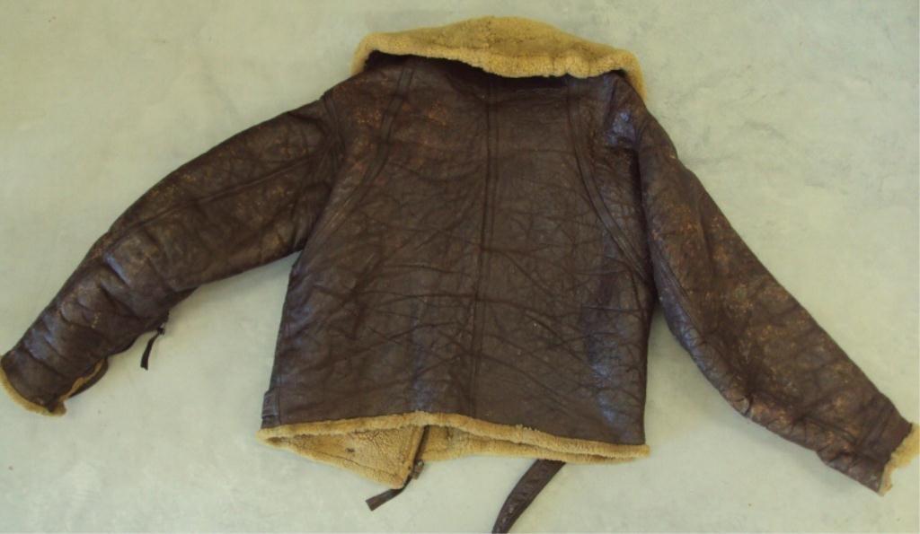 195A: WWII IRVIN SHEEPSKIN BOMBER JACKET - 5