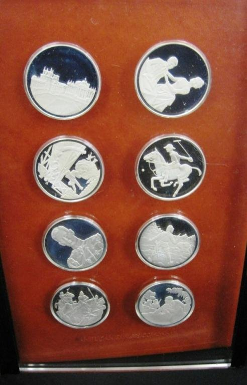 325: WINSTON CHURCHILL STERLING SILVER COIN SET - 2