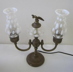 1: FENTON COIN DOT DOUBLE STUDENT LAMP