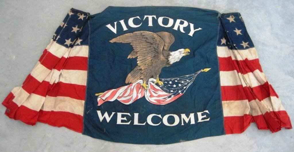 22: WWII VICTORY WELCOME FLAG
