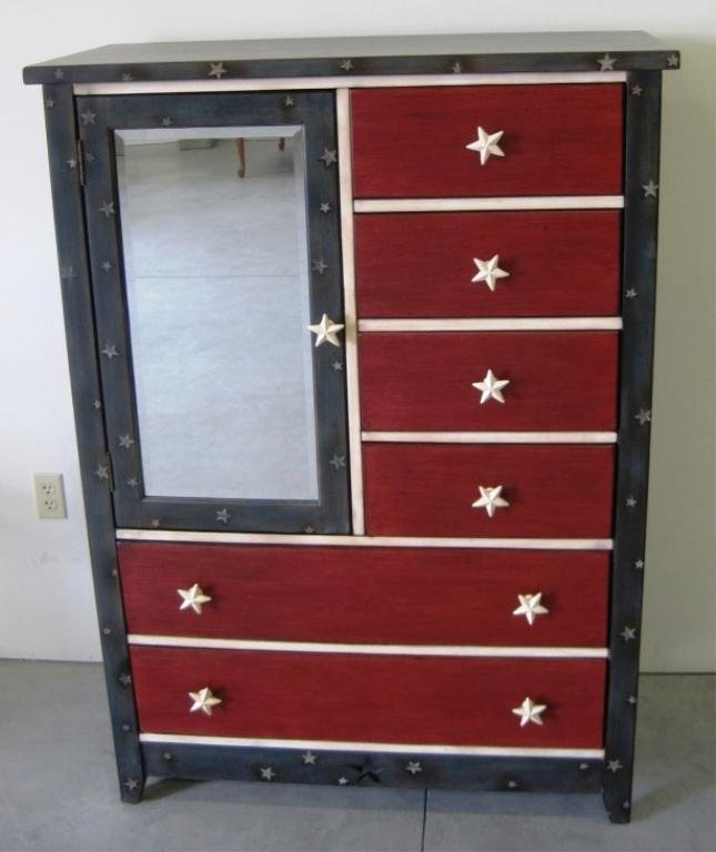 103: PAINTED DRESSER WITH MIRROR