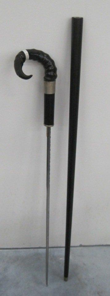 117: HALLMARKED WALKING STICK SWORD CANE